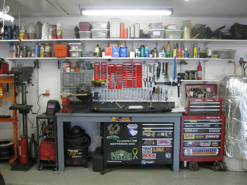 Getting The Most From A 2 Car Garage....On A Budget   The Garage Journal  Board